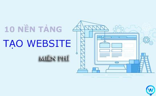 10 nền tảng tạo website miễn phí
