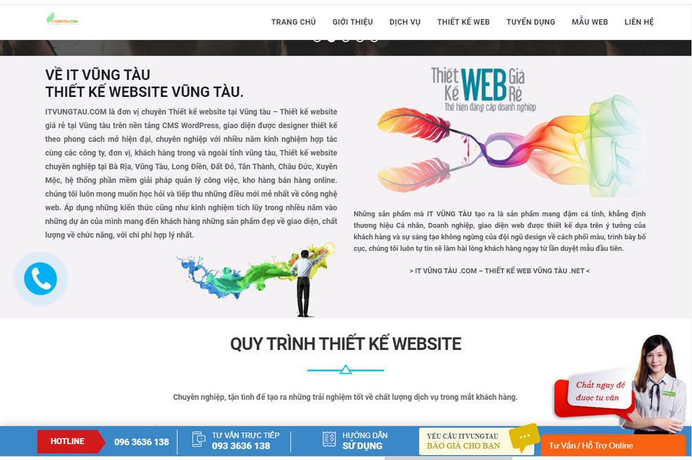 xây dựng website tại vũng tàu