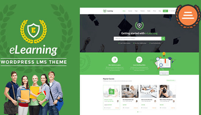 Giao diện website LMS - eLearning WP