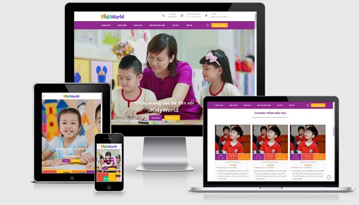 Theme WordPress giáo dục cho trường mầm non - Kid zone