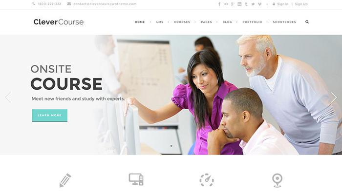 Theme WordPress giáo dục trực tuyến - Clevercourse