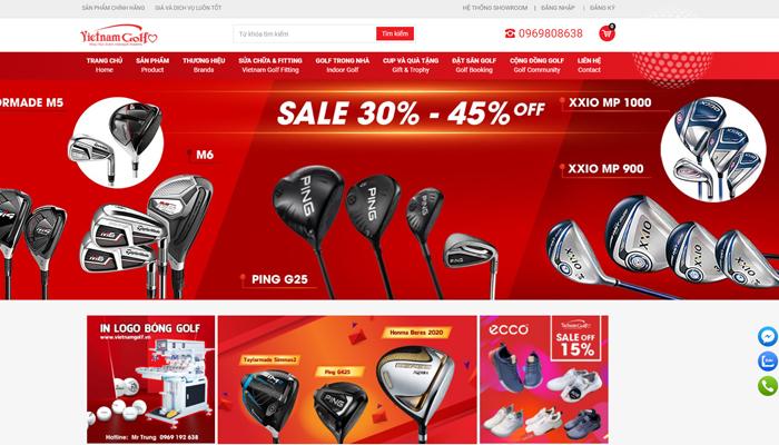 Webstie bán dụng cụ đánh golf - Golfshopvietnam.com